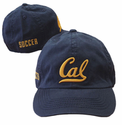 California Golden Bears Soccer Adjustable Slouch Hat - Navy