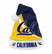 California Golden Bears Team Beans Santa Hat - Navy/Gold