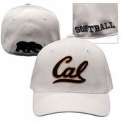 California Golden Bears Top of the World Softball Flex Fit Hat - White