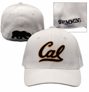 California Golden Bears Top of the World Swimming Flex Fit Hat - White