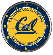 "California Golden Bears WinCraft 12"" Chrome Plated Clock - Navy/Gold"