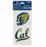 California Golden Bears WinCraft 4x8 Decal Set (2)