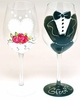 Bride & Groom Glass