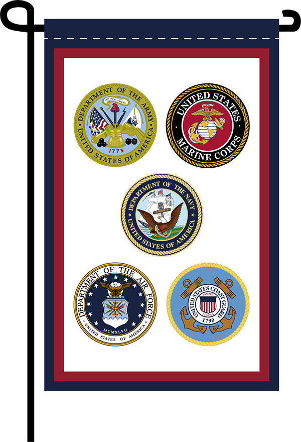 Armed Forces Garden Flag Uncommon Usa Garden Flags