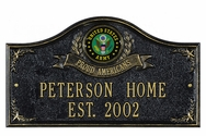 Army Military House Plaque