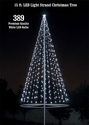 Flagpole Christmas Tree Kit - White -