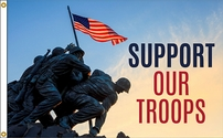 Iwo Jima Support Our Troops Flag 3x5