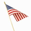 Lightweight Cotton Mounted Flags 12 Inch x 18 Inch