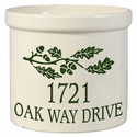 Oak Branch Address 2 Gallon Crock