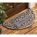 Personalized Filigree Arch Mat