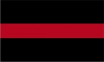 Red Thin Line Flag 3x5