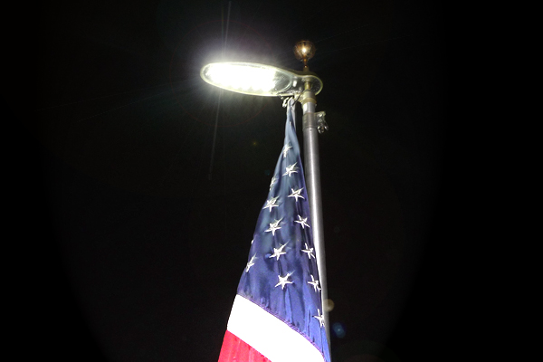 Solar Flagpole Light Uncommon Usa Flagpoles Flagpole