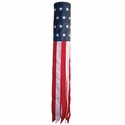 U.S. Embroidered Stars and Stripes 60 inch Windsock