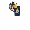 US Navy Dual Spinner Wheels with Garden Flag