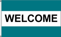 Welcome Flag (Teal/Teal)