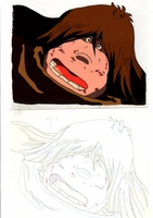 ACH28017 Captain Harlock Tochiro Oyama Anime Production Cel + Douga