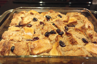 Chai Bread Pudding w/Raisins