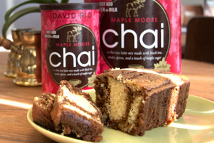 Marble Chai Cake with Maple Moose Chai