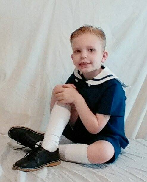 The sailor suit from Shanil Inc is definitely one of the classic styles for a boy's summer wardrobe.