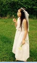 NEW Swea' Pea and Lilli White Cotton Eyelet Dress with Flower Trim (CC1451)