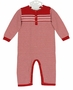 NEW Angel Dear Red and White Striped Cotton Romper