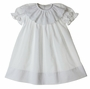 NEW Anvi Kids White Dress with Cross Embroidered Collar