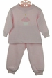 NEW Bailey Boys Pink Striped Pajamas with Cupcake Applique