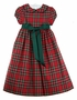 NEW Bailey Boys Red Tartan Plaid Dress with Green Ribbon Tie
