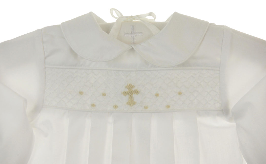 Bailey Boys Christening Romper Christening Romper With