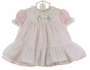"<img src=""http://site.grammies-attic.com/images/blue-sold-1.gif""> NEW Beatrix Potter Pink Dress with Peter Rabbit Embroidered Pinafore"
