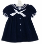 NEW C. I. Castro Navy Velvet Sailor Dress