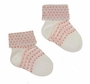 NEW Carlino White Cuffed Socks with Red Dots