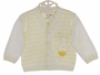 NEW Dolce Goccia Yellow and White Striped Cotton Sweater with Bunny Applique  for Baby Boys