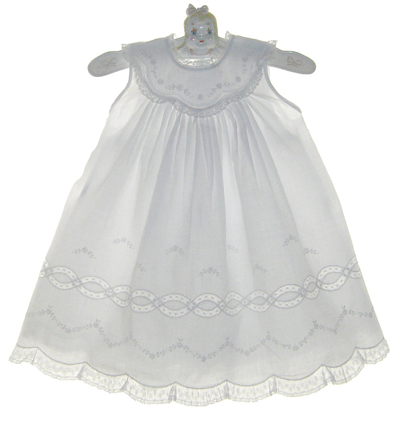 Feltman Brothers white christening gown with lace ...