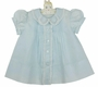 "<img src=""http://site.grammies-attic.com/images/blue-sold-1.gif""> NEW Feltman Brothers Pale Blue Daygown with Lacy Embroidered Collar"
