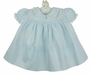 NEW Feltman Brothers Pale Blue Dress with Embroidery and Lace Trimmed Collar