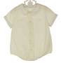 NEW Feltman Brothers Pale Yellow Romper with Embroidered Cars