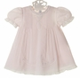 "<img src=""http://site.grammies-attic.com/images/blue-sold-1.gif""> NEW Feltman Brothers Pink Dress with Pintucks and Lace Insertion"