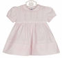 NEW Feltman Brothers Pink Pintucked Dress with Lace Insertion and Fagoting and Matching Diaper Cover