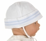 NEW Feltman Brothers White Sailor Hat with Light Blue Trim