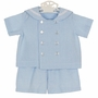 NEW Funtasia Blue and White Checked Seersucker Sailor Suit