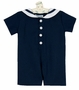 NEW Funtasia Navy Blue Linen Sailor Romper