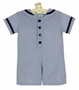 NEW Funtasia Navy Blue Seersucker Striped Sailor Romper