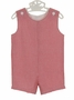NEW Funtasia Red Checked Seersucker Monogrammable Shortall
