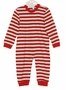 NEW Gabiano Red and White Striped Monogrammable Sleeper Style Pajamas