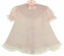 NEW Garden of Angels Pink Dress with Pastel Embroidered Flowers, Lace Trim, and Tiny Seed Pearls