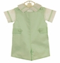NEW Glorimont Green Cotton Pique Shortall with Side Tabs and Matching Shirt