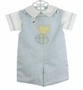 NEW Glorimont Reversible Pale Blue Cotton Oxford Shortall and Shirt Set with Chick Applique