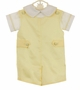 NEW Glorimont Yellow Cotton Pique Shortall with Side Tabs and Matching Shirt