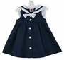 NEW Good Lad Navy Sleeveless Sailor Dress with White Collar and Star Buttons